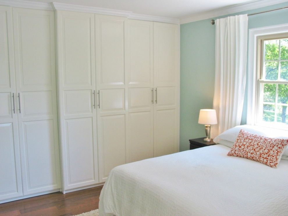 Ikea Houzz For Traditional Bedroom And Orange