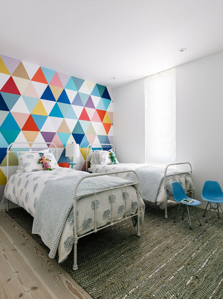 Kids Queen Frame  for Contemporary Kids and Colorful Mural