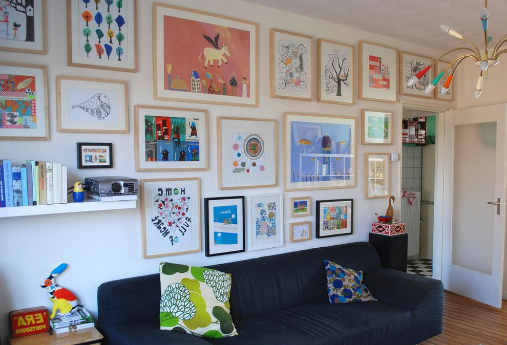 Kids Queen Frame  for Eclectic Living Room and Art Arrangement