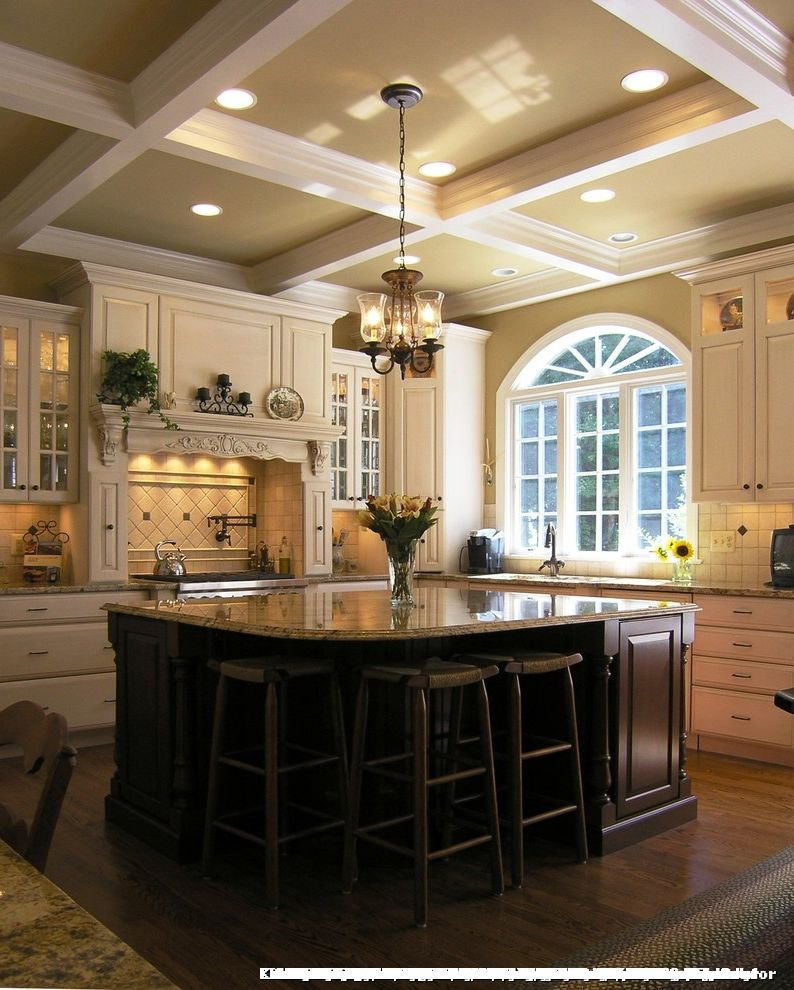 Kitchens with 12 Foot Ceilings for Traditional Kitchen and Granite