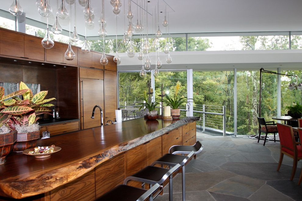 Kitchens with Clerestory Windows  for Contemporary Kitchen and Stone Floor