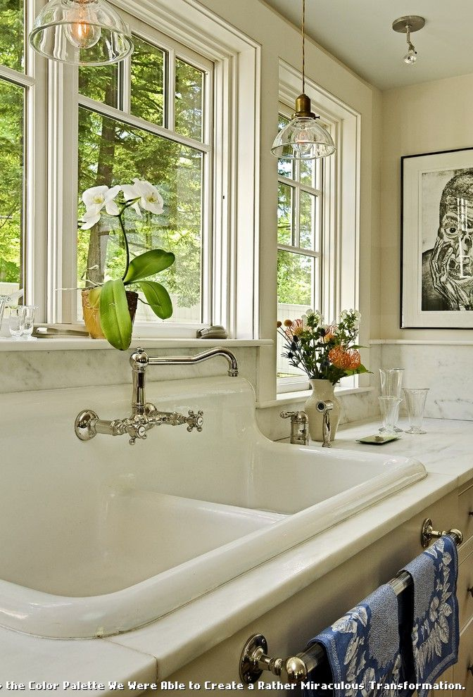 Kitchens with Utility Sinks for Traditional Kitchen and Farmhouse Sink