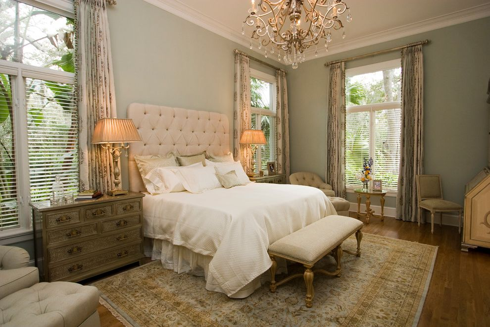 Sherwin Williams Sw 6378 Crisp Linen for Traditional Bedroom and Wood Floor