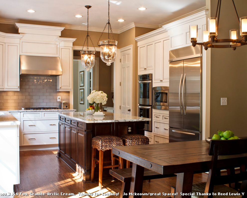 Sherwin Williams Sw 6378 Crisp Linen for Traditional Kitchen and Beige Flowers