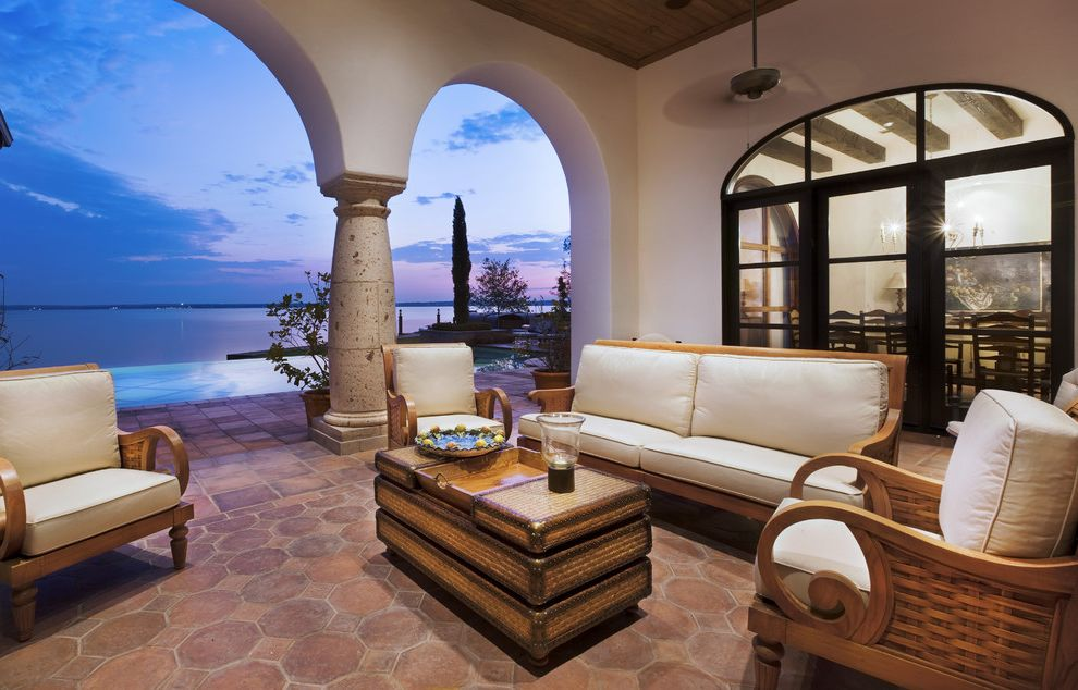 Spanish Style Outdoor Patio Paving For Rustic Patio And