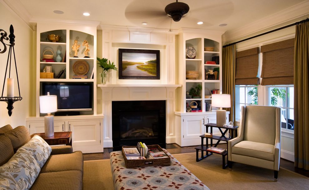 Stackable Stone Fireplace with Built Ins on Each Side for ...