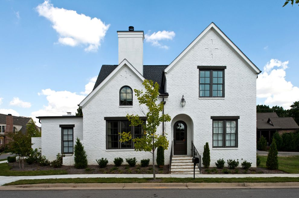 Whitewash Brick Exterior Traditional  for Traditional Exterior and Whitewashed Brick Siding