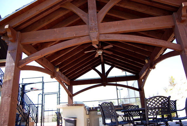 16x20 Frame Patio with Covered Patio Dovetail Timber1
