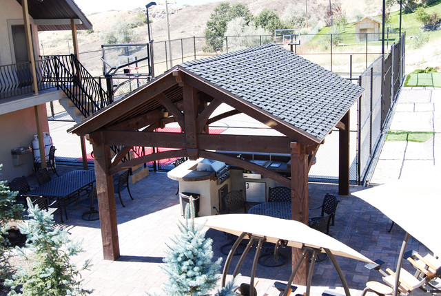 16x20 Frame Patio with Covered Patio Dovetail Timber2