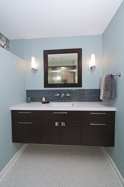 42 inch bathroom vanity Bathroom Contemporary with baseboards bathroom lighting bathroom