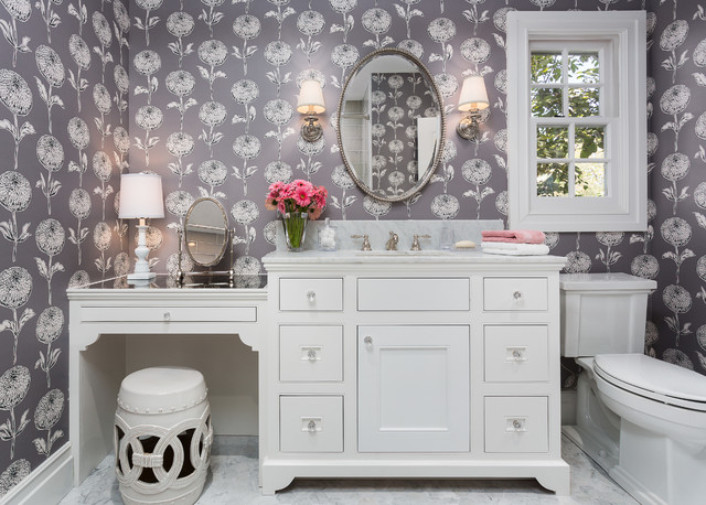 42 Inch Bathroom Vanity Bathroom Traditional with Antique Mirror Countertop Breakwater