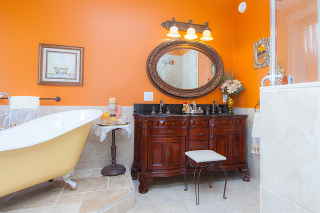 48 Inch Double Sink Vanity Bathroom Traditional with Carved Wood Double Vanity