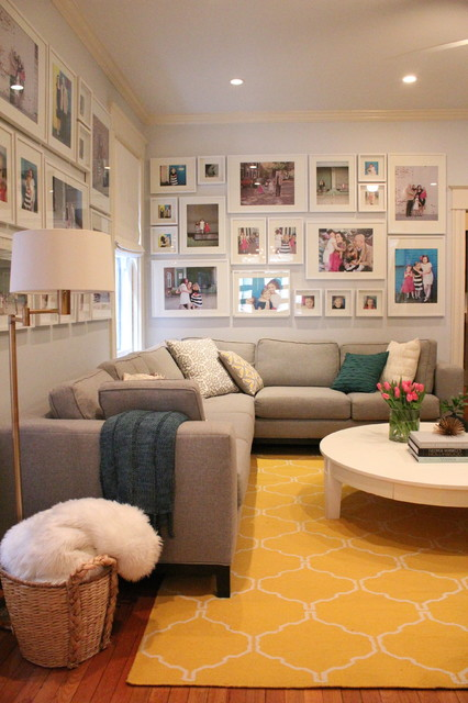8x12 Frame Living Room Transitional with Brass Swing Arm Floor