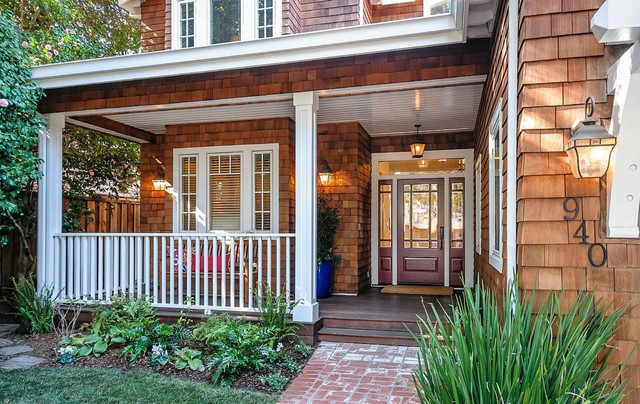 Aaw Doors Porch Traditional with Coach Lamp Fluted Columns