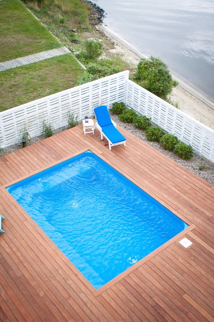 Above Ground Pools with Decks Pool Traditional with Beach House Deck Fence