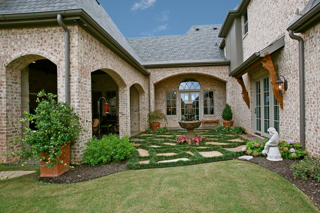 Acme Brick Landscape Traditional with Arched Transom Window Arches