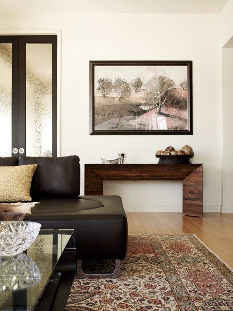 Acrylic Console Table Living Room Contemporary with Area Rug Artwork Console