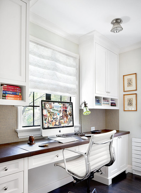 Adjustable Standing Desk Home Office Traditional with Bookshelves Built in Desk