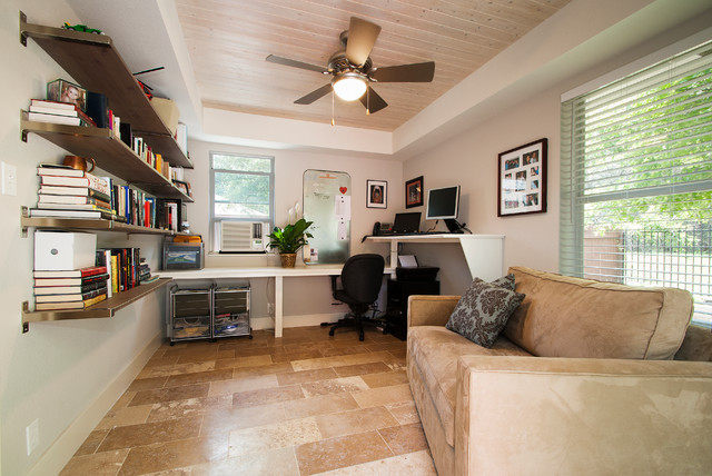 Adjustable Standing Desk Home Office Traditional with Floating Shelves Home Office