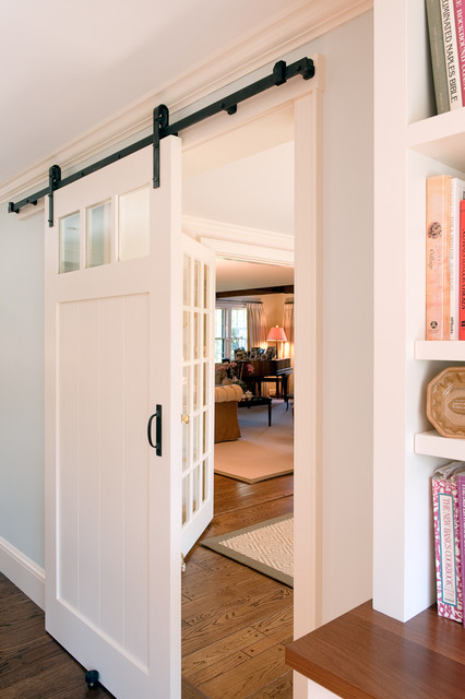 Adura Flooring Kitchen Traditional with Barn Door Black Hardware