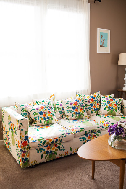 Affordable Couches Living Room Traditional with Floral Sofa High Ceilings