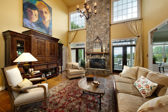 Aiken Housing Center Living Room Traditional with Beige Sofa Eclectic Family
