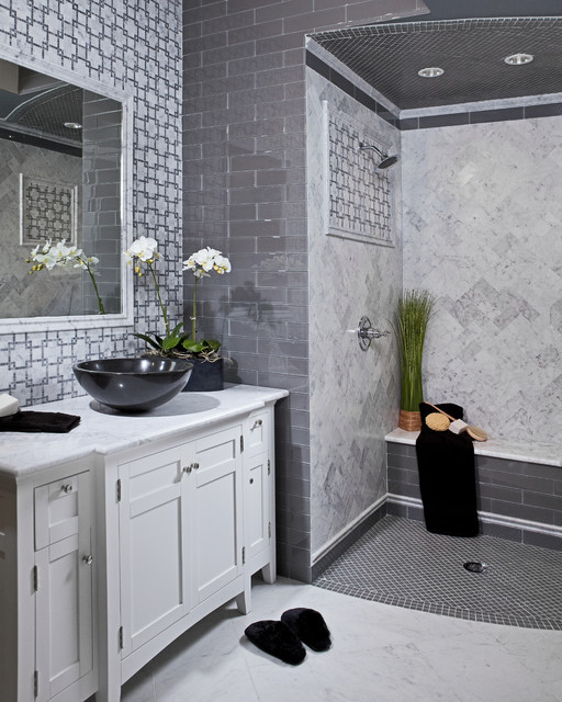 Akdo Tile Bathroom Modern with Akdo Carrara Chic Design