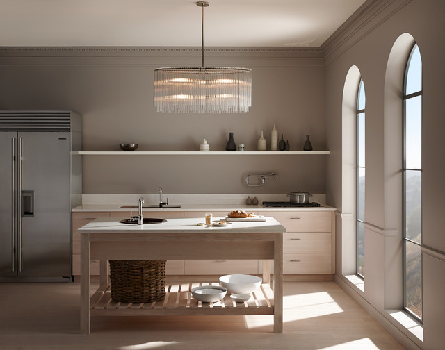 Allen and Roth Lighting Kitchen Contemporary with Benjamin Moore Paint 06