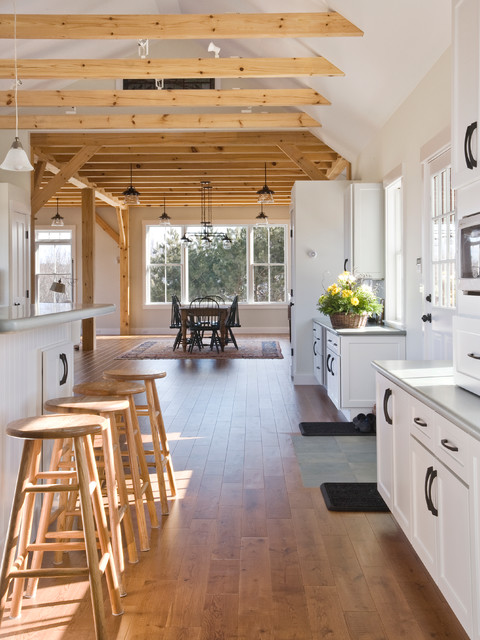 allen and roth lighting Kitchen Traditional with area rug counter stools