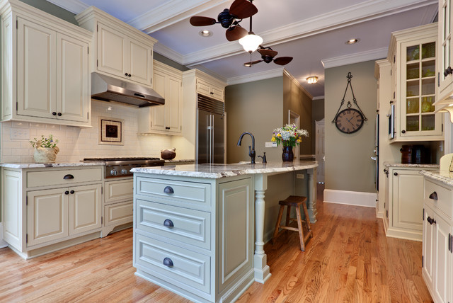 Allen and Roth Lighting Kitchen Traditional with Baseboards Ceiling Fan Crown1