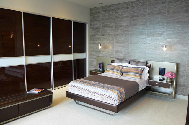 Allen Roth Closet Bedroom Contemporary with Ceramic Tile Fabrica Carpet