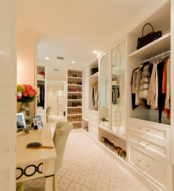 Allen Roth Closet Closet Traditional with Bar Pulls Dressing Area1