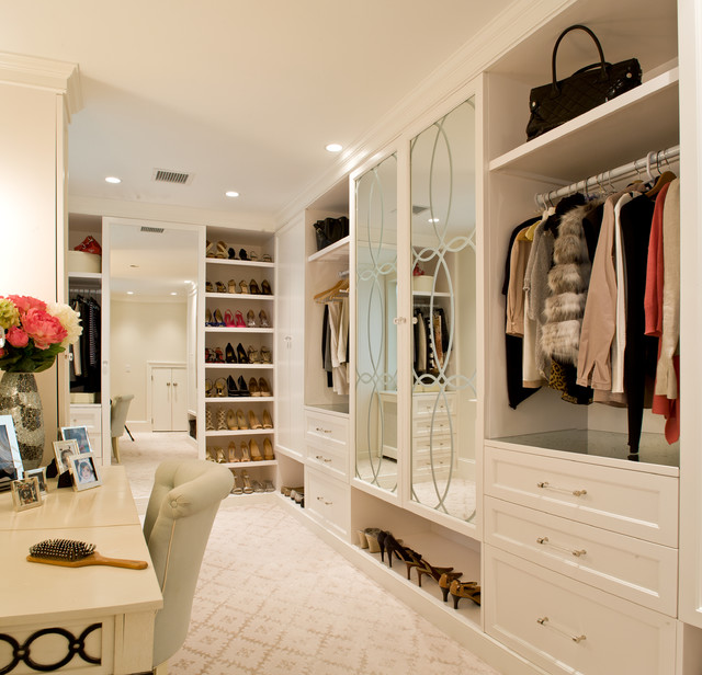 Allen Roth Closet Closet Transitional with Built Ins Carpeting Chair Crown1