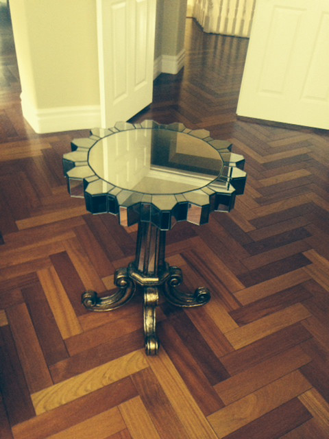 Ambella Home Spaces Transitional with Accent Table Hollywood Regency