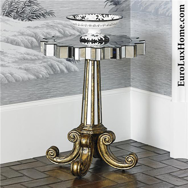 Ambella Home Spaces Transitional with Accent Table Hollywood Regency2