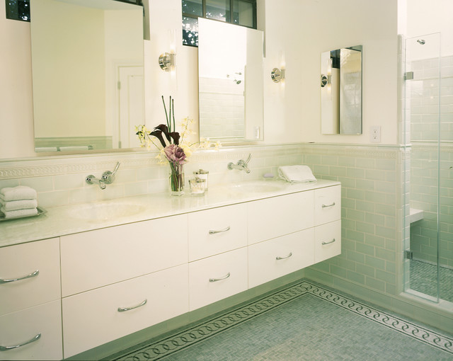 American Olean Tile Bathroom Contemporary with Accent Tiles Bathroom Hardware