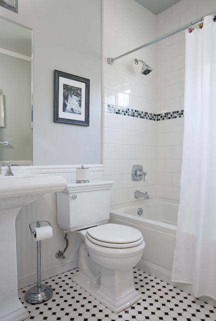 American Olean Tile Bathroom Traditional with Bathroom Tile Beadboard Floor