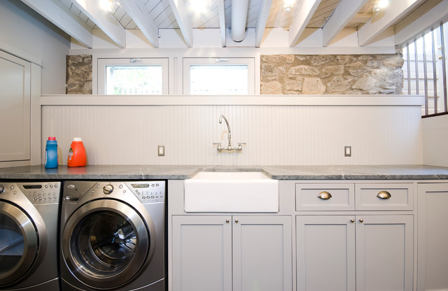 Apron Front Sink Laundry Room Contemporary with Apron Front Sink Basement