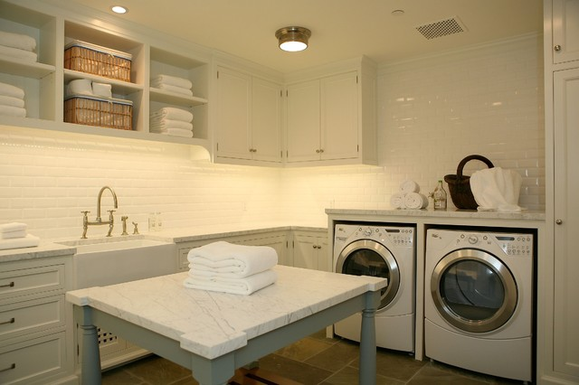 Apron Front Sink Laundry Room Traditional with Apron Front Sink Built In