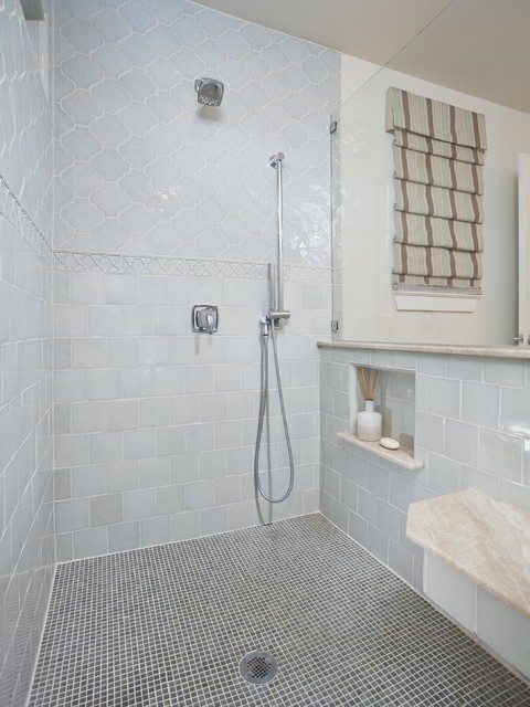 Arabesque Tile Bathroom Transitional with Arabesque Tile Bathroom Remodel
