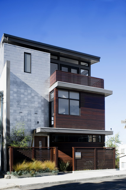 Architectural Mailboxes Exterior Contemporary with Balcony Entrance Entry Flat