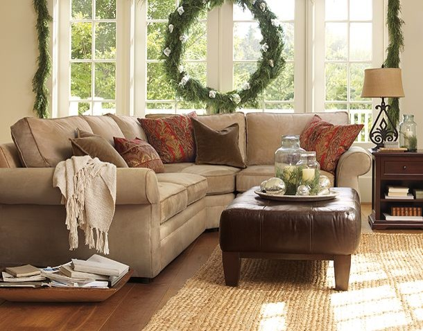Area Rugs Ikea Family Room Traditional with Pottery Barn Sectional Sofa5