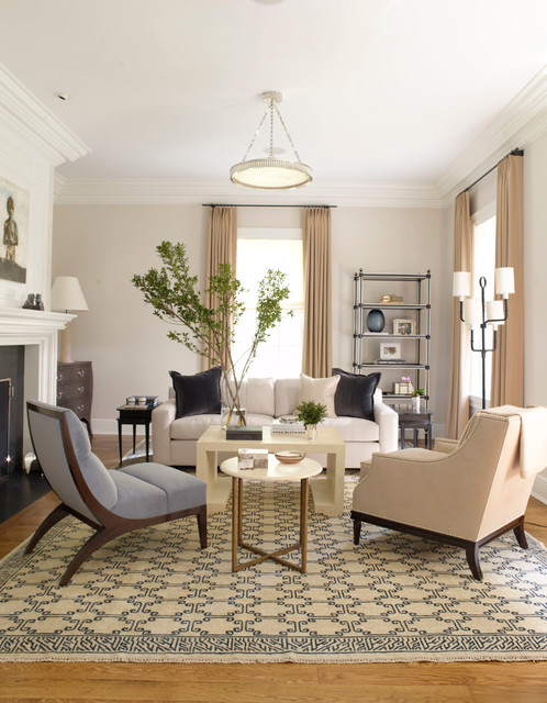 Armless Chair Living Room Transitional with Aspen Baseboards Beige And