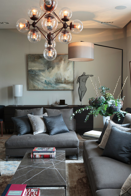 Armless Sofa Living Room Contemporary with Art Beige Wall Chandelier