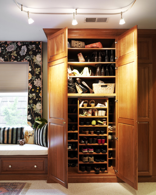 Armoire Closet Closet Traditional with Armoire Beige Carpet Built
