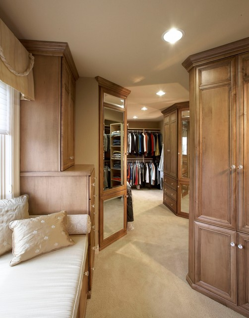 Armoire Closet Closet Traditional with Beige Bench Cushion Beige