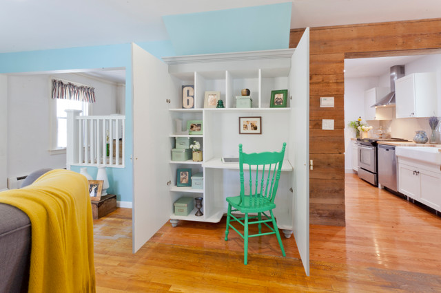 Armoire Desk Home Office Eclectic with Built in Desk Closet Office