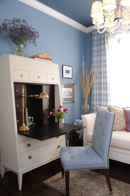 Armoire Desk Home Office Traditional with Blue Blue and Brown
