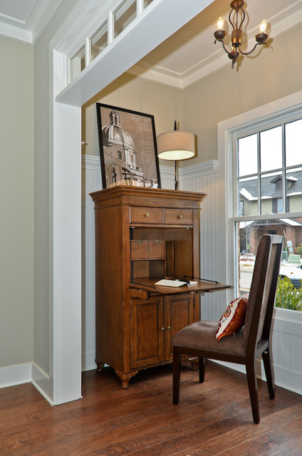 Armoire Desk Living Room Traditional with Abattant Bead Board Beige
