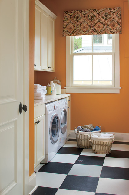 Armstrong Alterna Laundry Room Traditional with Black and White Checker